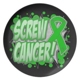 Estilo cómico del cáncer hepático del tornillo plato para fiesta