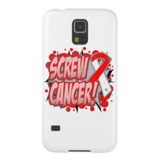 Estilo cómico del cáncer oral del tornillo carcasas de galaxy s5