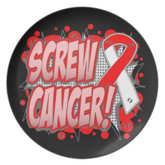 Estilo cómico del cáncer oral del tornillo platos