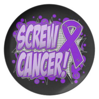 Estilo cómico del cáncer pancreático del tornillo plato