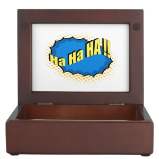 ¡Estilo cómico ha ha ha del arte pop! Caja De Recuerdos