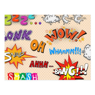 ¡Estilo cómico ha ha ha del arte pop! Tarjeta Postal