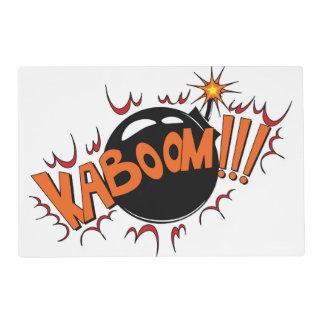 ¡Estilo cómico KaBoom del arte pop! Tapete Individual