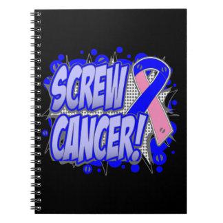 Estilo cómico masculino del cáncer de pecho del to cuadernos