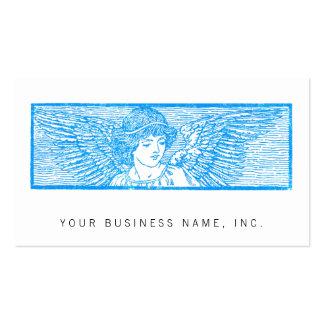 Estilo con alas de la prensa de copiar del tarjetas de visita