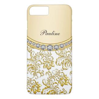 Estilo con clase del monograma del oro funda iPhone 7 plus
