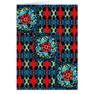 Estilo Crocheted Tarjeta De Felicitación