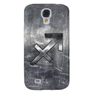 Estilo de acero apenado Grunge del zodiaco del Funda Para Galaxy S4