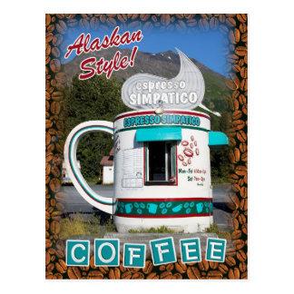 ¡Estilo de Alaska del café…! Postal