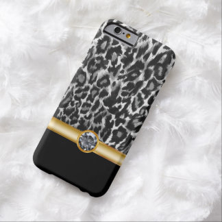Estilo de Bling del leopardo Funda De iPhone 6 Barely There