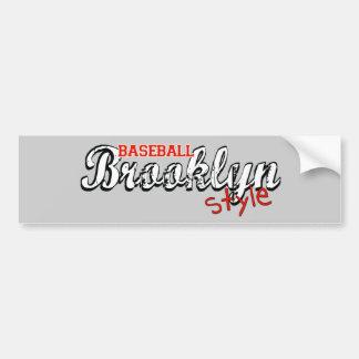 Estilo de Brooklyn del béisbol Pegatina Para Auto