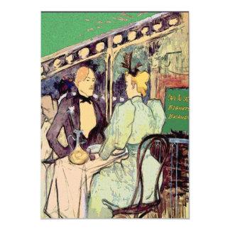 """Estilo de Cafe Du Monde Vintage Invitación 5"""" X 7"""""""