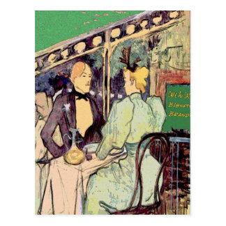 Estilo de Cafe Du Monde Vintage Tarjeta Postal