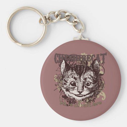 Estilo de Carnivale del gato de Cheshire Llaveros