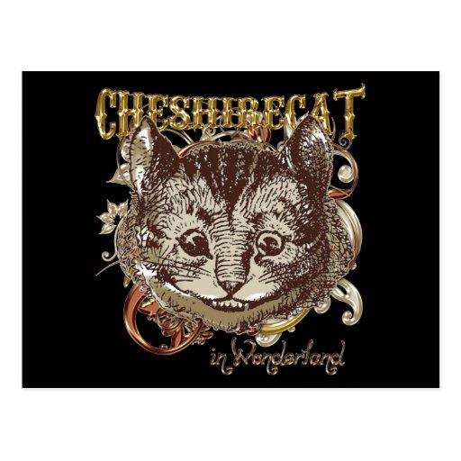 Estilo de Carnivale del gato de Cheshire (versión Postal