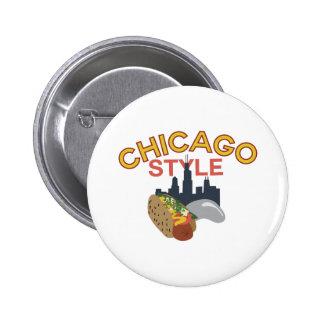 Estilo de Chicago Pin Redondo De 2 Pulgadas