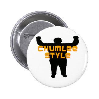 Estilo de Chumlee Pin Redondo 5 Cm