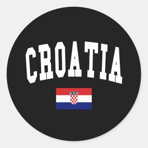 Estilo de Croacia Pegatinas Redondas