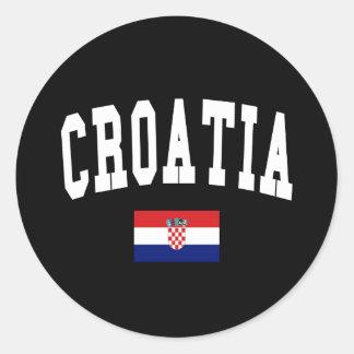 Estilo de Croacia Pegatina Redonda