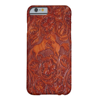 estilo de cuero occidental con el caso del iPhone Funda De iPhone 6 Barely There