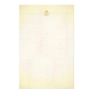 Estilo de encargo del papel de pergamino del vinta papeleria de diseño
