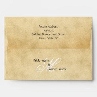 Estilo de encargo del vintage del monograma del sobres