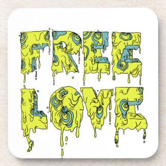 Estilo de fusión de la pintada del amor libre posavaso