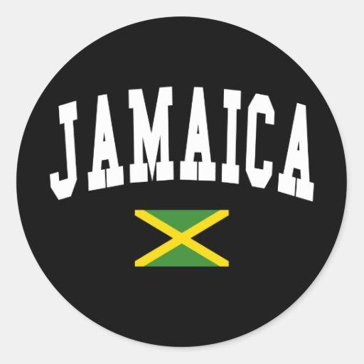 Estilo de Jamaica Etiquetas Redondas