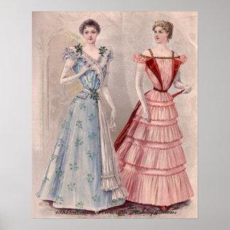 Estilo de la casa de las señoras del Victorian en Impresiones