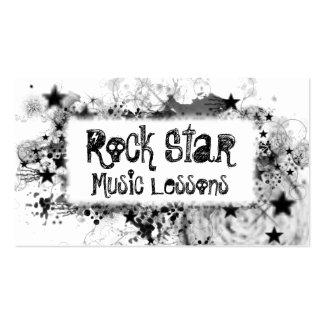 Estilo de la estrella del rock tarjetas de visita