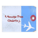 Estilo de la etiqueta del equipaje tarjeta postal