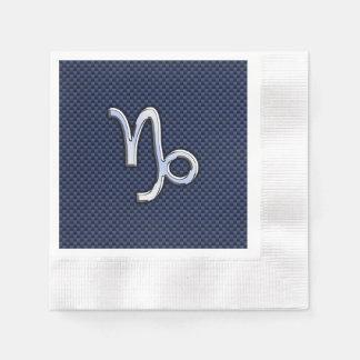 Estilo de la fibra de carbono de los azules servilleta desechable