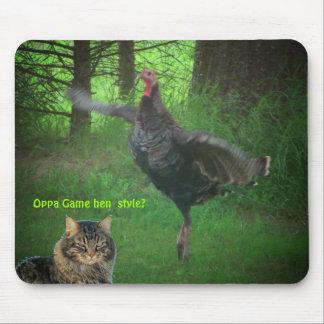 ¿Estilo de la gallina del juego de Oppa? Mouse Pads