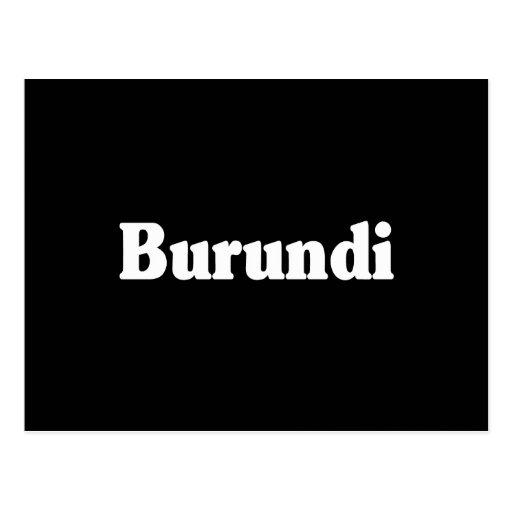 Estilo de la obra clásica de Burundi Postales