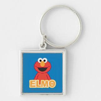 Estilo de la obra clásica de Elmo Llavero Cuadrado Plateado