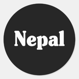 Estilo de la obra clásica de Nepal Etiquetas Redondas