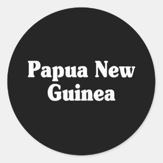 Estilo de la obra clásica de Papúa Nueva Guinea Pegatina Redonda