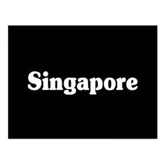 Estilo de la obra clásica de Singapur Tarjeta Postal