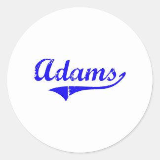 Estilo de la obra clásica del apellido de Adams Pegatina Redonda