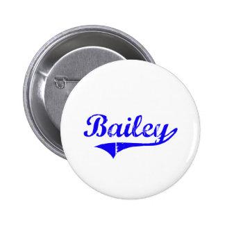 Estilo de la obra clásica del apellido de Bailey Pin Redondo 5 Cm