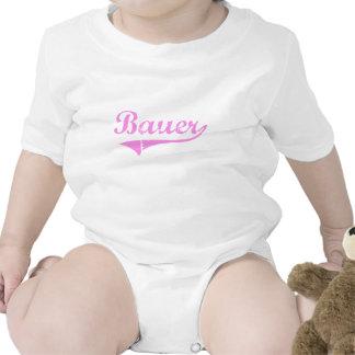 Estilo de la obra clásica del apellido de Bauer Camisetas