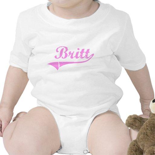 Estilo de la obra clásica del apellido de Britt Traje De Bebé