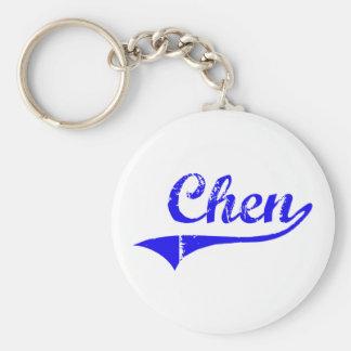 Estilo de la obra clásica del apellido de Chen Llavero Redondo Tipo Pin