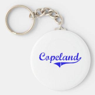 Estilo de la obra clásica del apellido de Copeland Llavero Redondo Tipo Pin