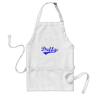 Estilo de la obra clásica del apellido de Duffy Delantal