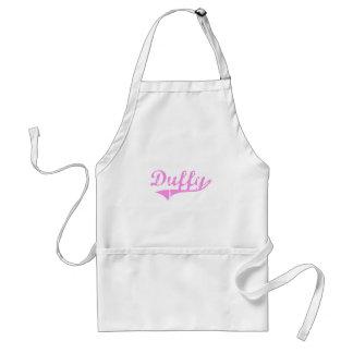 Estilo de la obra clásica del apellido de Duffy Delantales