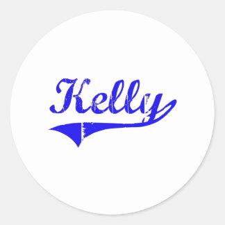 Estilo de la obra clásica del apellido de Kelly Etiqueta Redonda