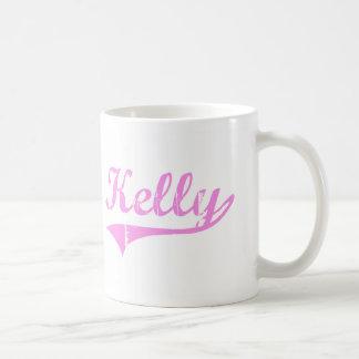 Estilo de la obra clásica del apellido de Kelly Taza De Café