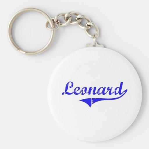 Estilo de la obra clásica del apellido de Leonard Llavero Redondo Tipo Pin