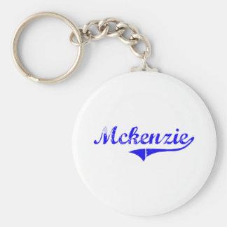 Estilo de la obra clásica del apellido de Mckenzie Llavero Redondo Tipo Pin